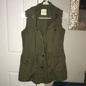 Olive Green Hooded Vest